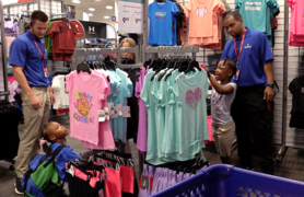 Students from area Boys & Girls Clubs shop for school, fill their carts and learn to shop on a budget with a generous gift card