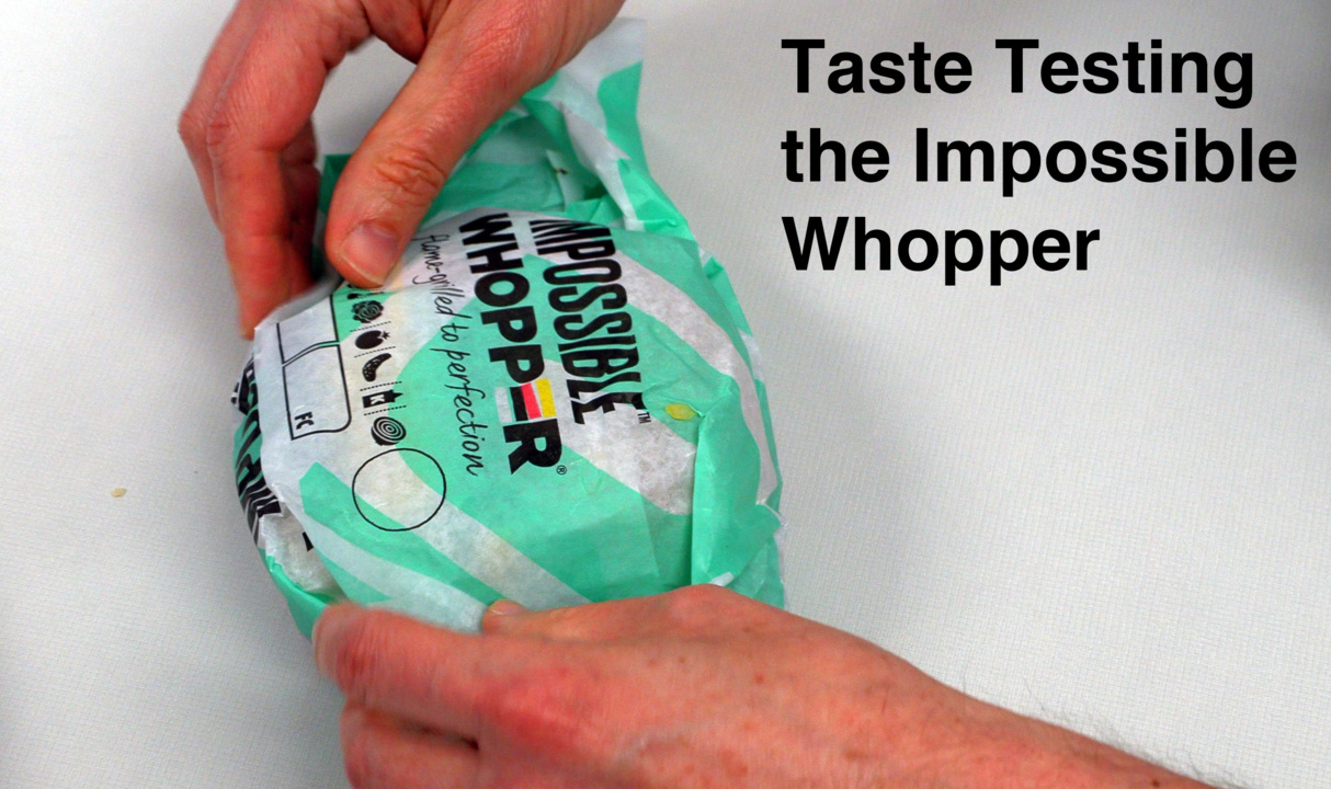What is the Impossible Whopper like? Watch us do a taste test.