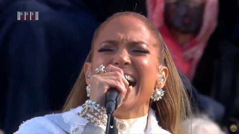 Jennifer Lopez performs at Biden's inauguration
