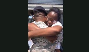 Watch as an airman goes home to Conway to see his mother for the first time in 5 years