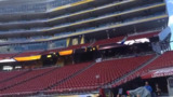 A view from the field at Levis Stadium, site of the Super Bowl