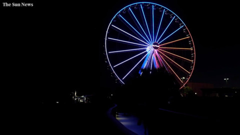 Myrtle Beach Skywheel reopens with dramatic light show