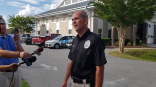 Surfside Beach Police Chief Kenneth Huffman talks about a barricade situation