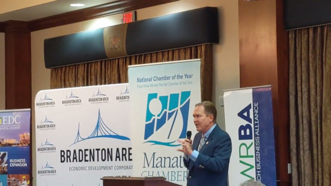 Representative Vern Buchanan gives congressional update at private event