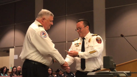 With 'big shoes' to fill, long-time Bradenton firefighter promoted to assistant chief