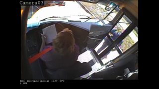 Road-rage woman attacks door of school bus with special-needs kids aboard