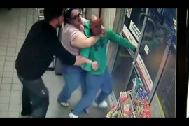 Shoplifting suspect punches clerk, who puts him in a chokehold