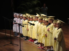 Watch pre-K students perform song for Saint Stephen's graduates