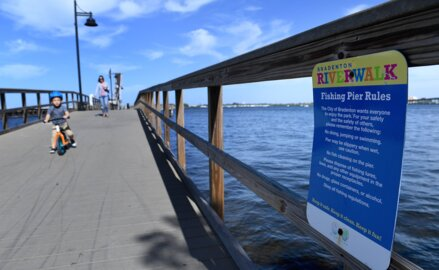 City wants to ban fishing on Riverwalk. Visitors say there are bigger fish to fry