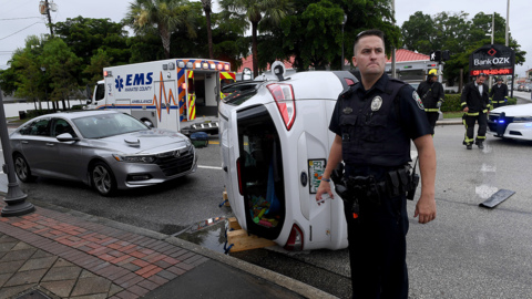 Rollover crash blocks part of busy Palmetto intersection. It wasn't the only crash Friday