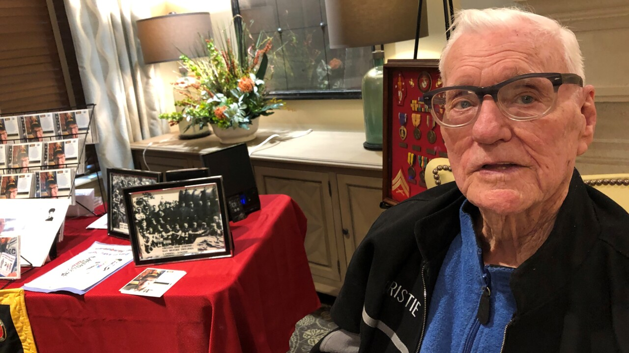 Iwo Jima veteran — and songwriter — pays tribute to Americans who died in WWII battle