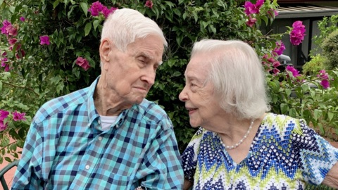 Betty and Sidney Thomas celebrate 75 years of marriage. They met during World War II