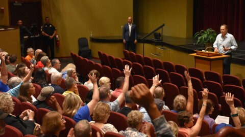 Rep. Vern Buchanan hears from both sides of the aisle in Bradenton town hall meeting