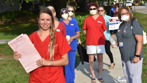 'It's about patient safety.' Blake nurses protest possible layoffs, staff shortages