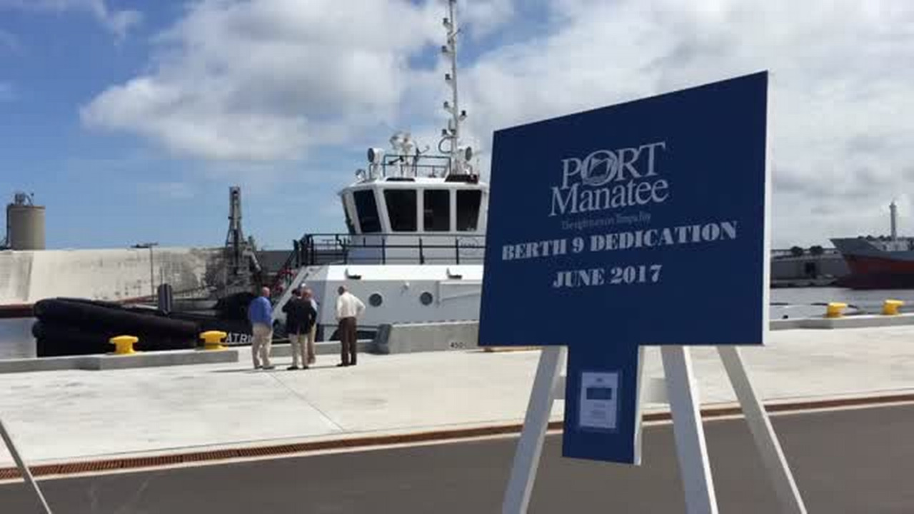 Port Manatee dedicates reconstructed Berth 9