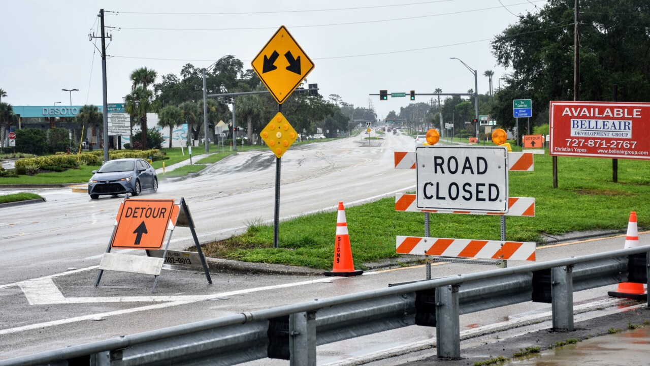 Steady rains take a toll on Manatee systems, cause road closures and sewage spills