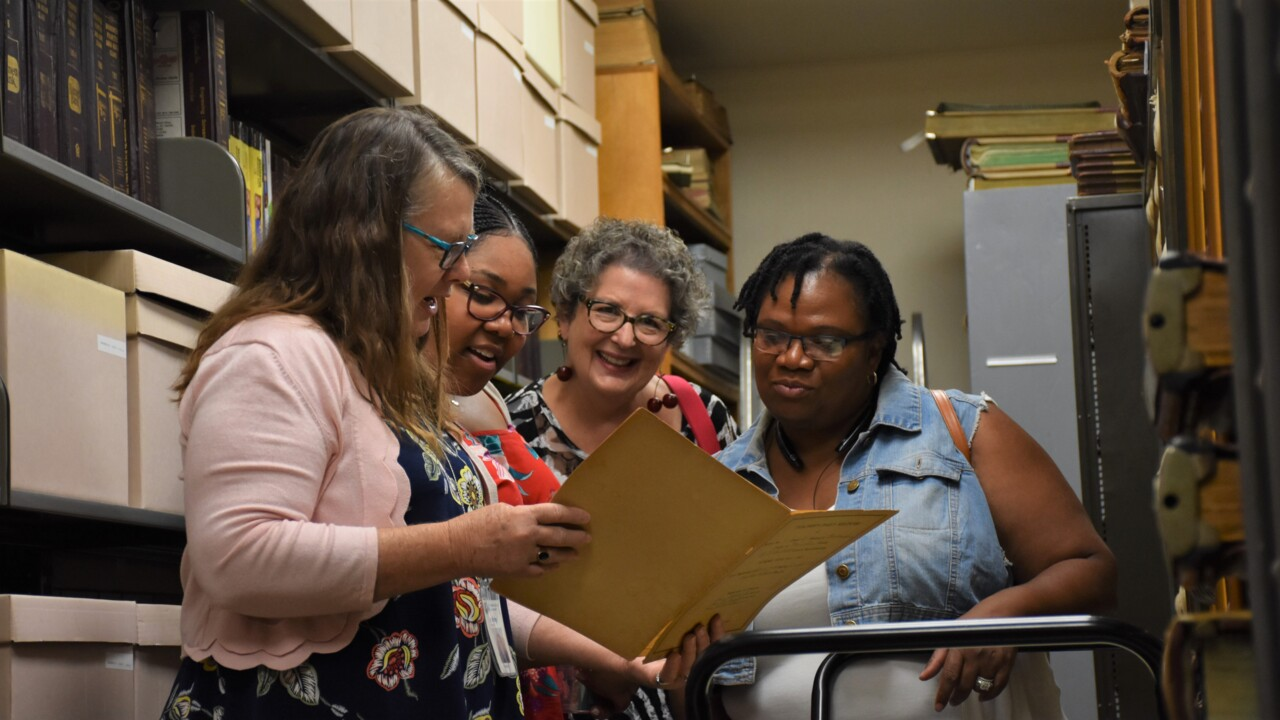 'It's like a playground.' Historical Records Library invites guests to explore past