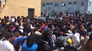 Students walkout to protest killings in Liberty Square