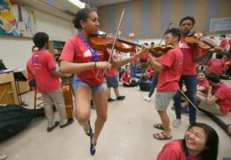 Watch and listen as these Miami kids get to play with Carnegie Hall's NYO2 students