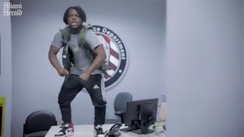 Florida rapper's viral video set inside Aventura police HQ. That was a surprise to cops