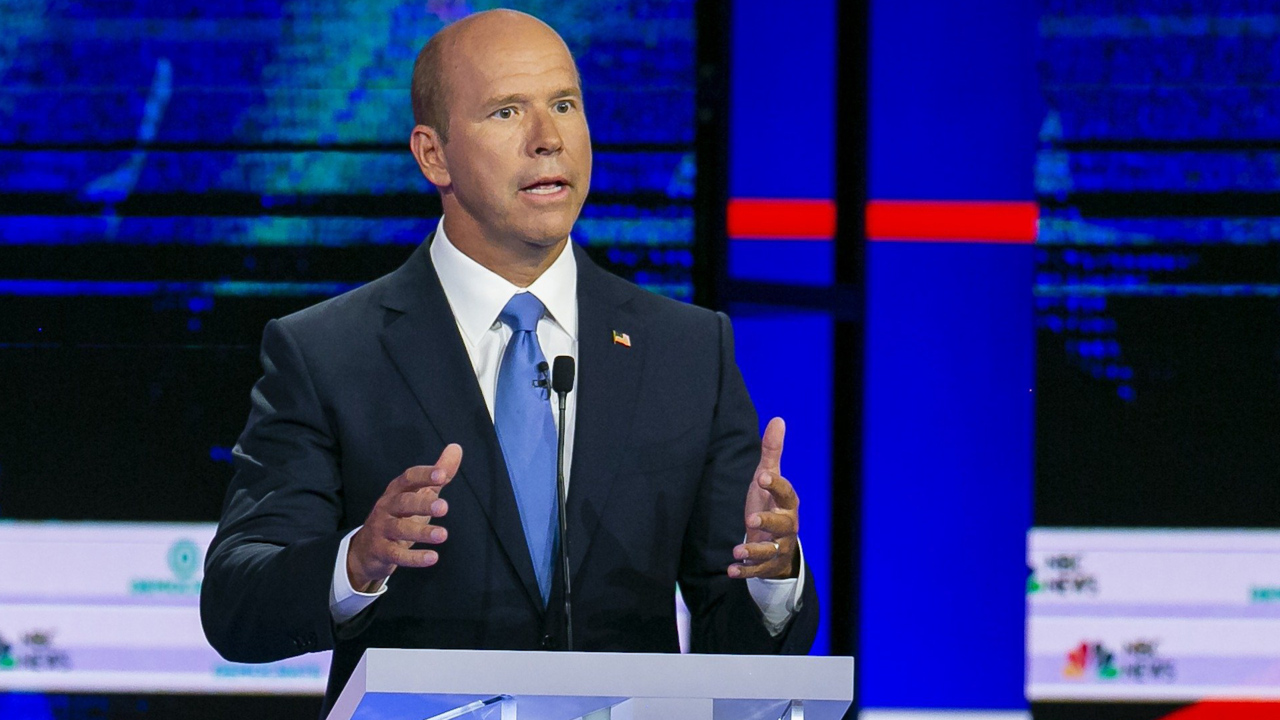 When he got a word in debate, John Delaney knocked Medicare for all, backed carbon tax