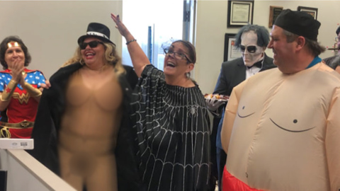 Broward Schools official wore naked woman Halloween costume to work. Trouble ensued.