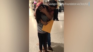 Mother reunited with her seven-year-old daughter at MIA