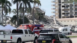 Miami Beach condominium building, planned to be demolished, collapses
