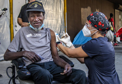 Mobile COVID-19 Vaccination Tours for Miami's homeless