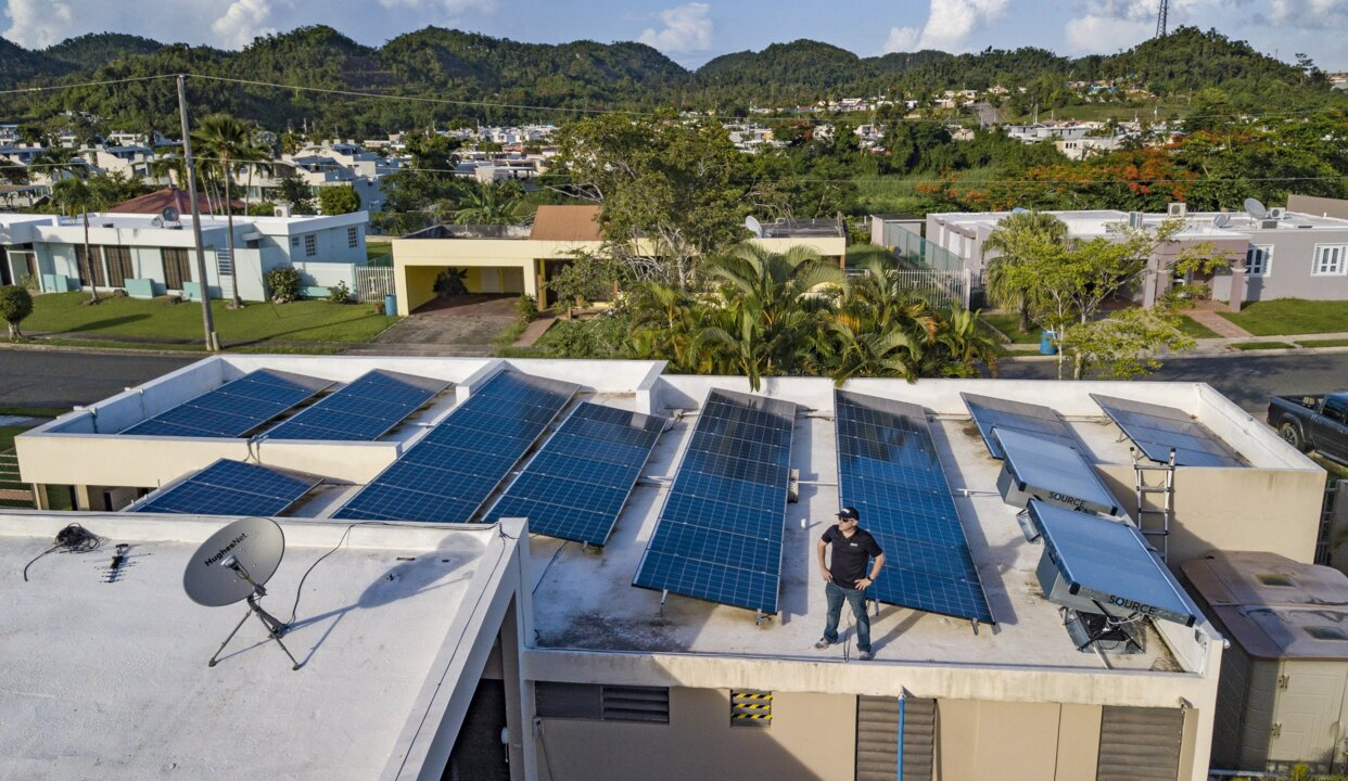 Some Puerto Ricans Use Solar Energy Microgrids After