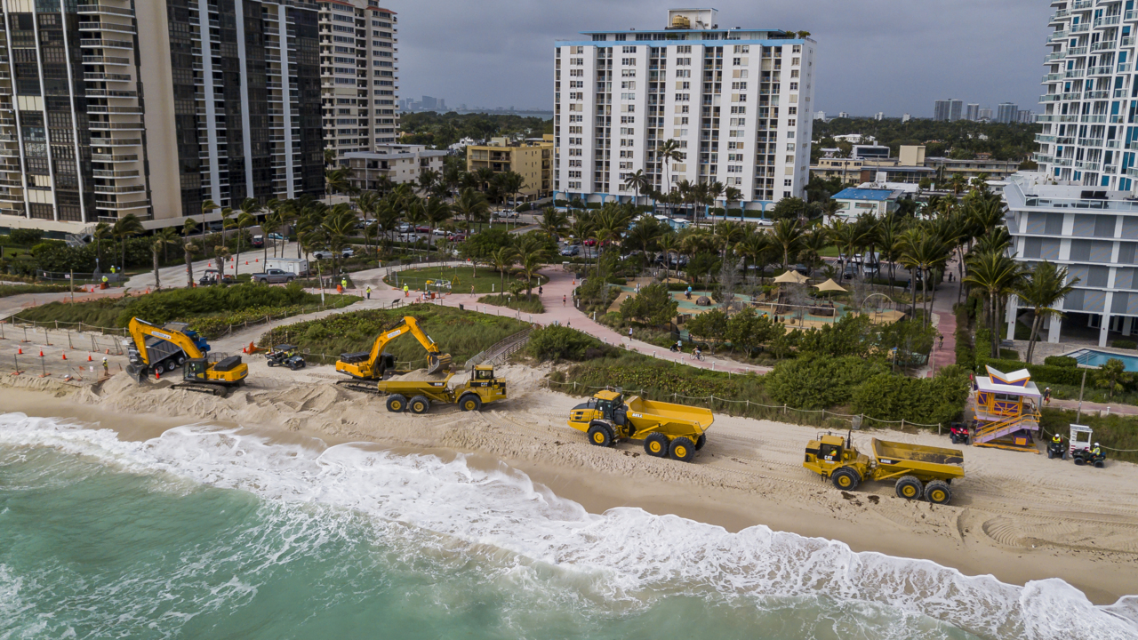 Miami Beach is thinning out. The feds will plump it up with 61,000 tons of new sand.