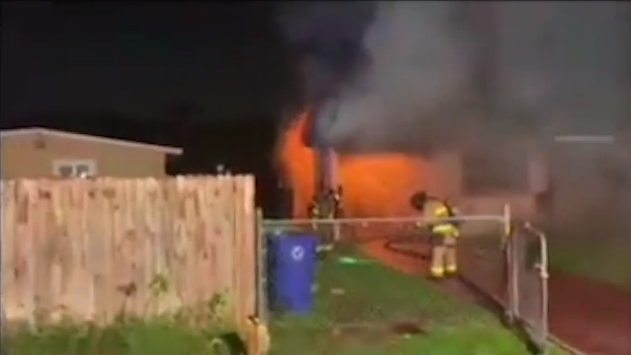 Two pets killed, home destroyed in raging Fort Lauderdale house fire