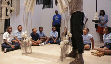 Yes, 'Art' starts with 'A.' And that's the grade for a Little Haiti school with a new program
