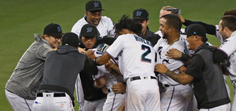 Brian Anderson discusses his walk-off hit to beat the Padres in Miami