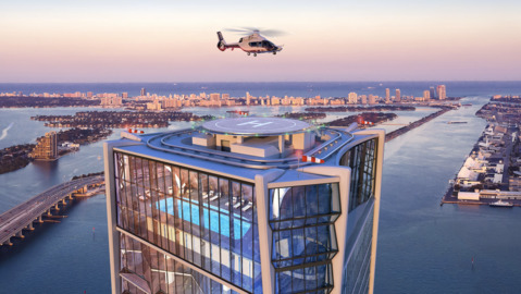 Penthouse at One Thousand Museum sells for $13.8 million. Helicopter not included