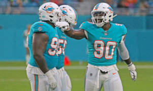 Dolphins defensive end Charles Harris remakes himself again. This time it makes sense