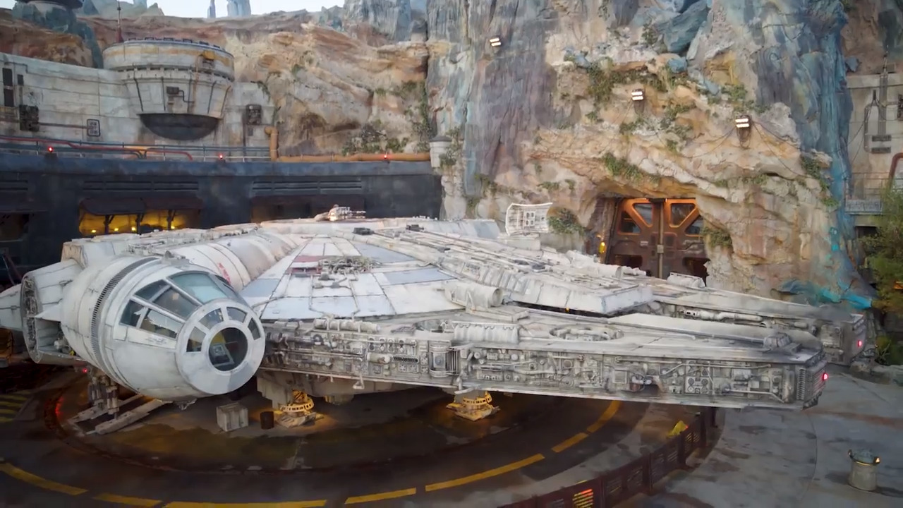 Watch Walt Disney World's first aerial walk-through of Star Wars: Galaxy's Edge