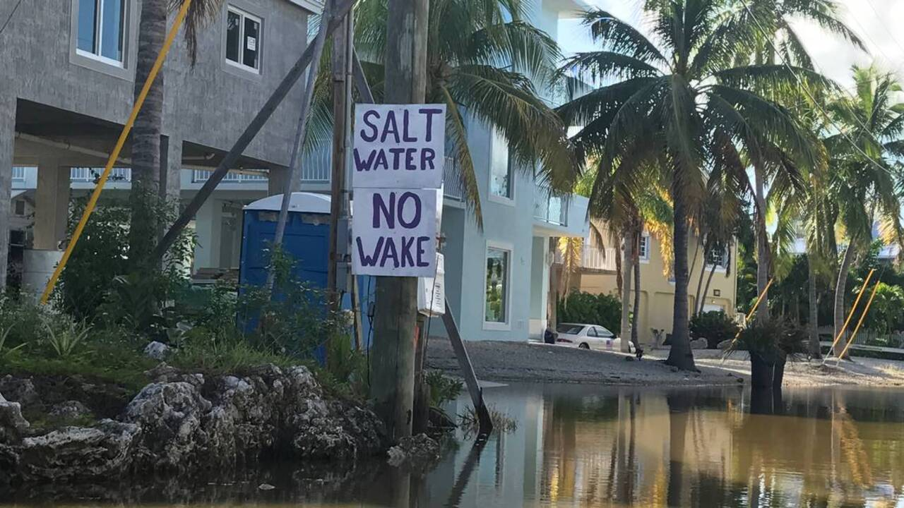 Florida Keys neighborhood's been flooded for over 40 days