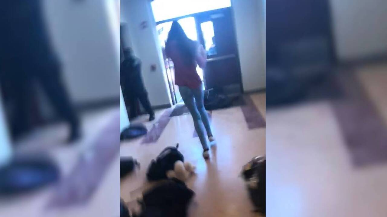 Parkland Fl High School shooting: Video shows blood in classroom