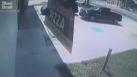 Truck slams into shop, sends customer running, video shows. Driver charged with DUI