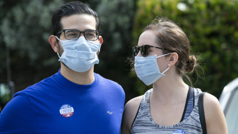 Florida primary voter 'To protect others we really wanted to wear the mask'