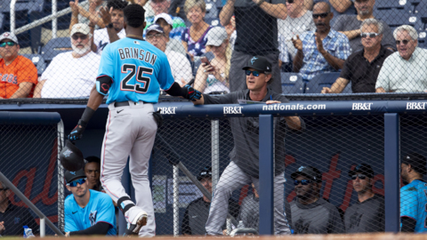 Marlins' Lewis Brinson 'looks like a different guy' this spring. Will it translate?