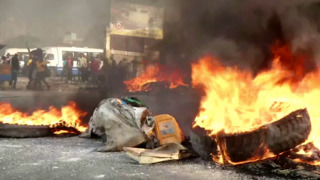 Protests erupt in Haiti over sharp rise in fuel prices