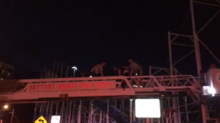 Firefighters work to rescue riders from Daytona Beach roller coaster