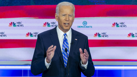 Biden bears front-runner's burden of being the biggest debate target