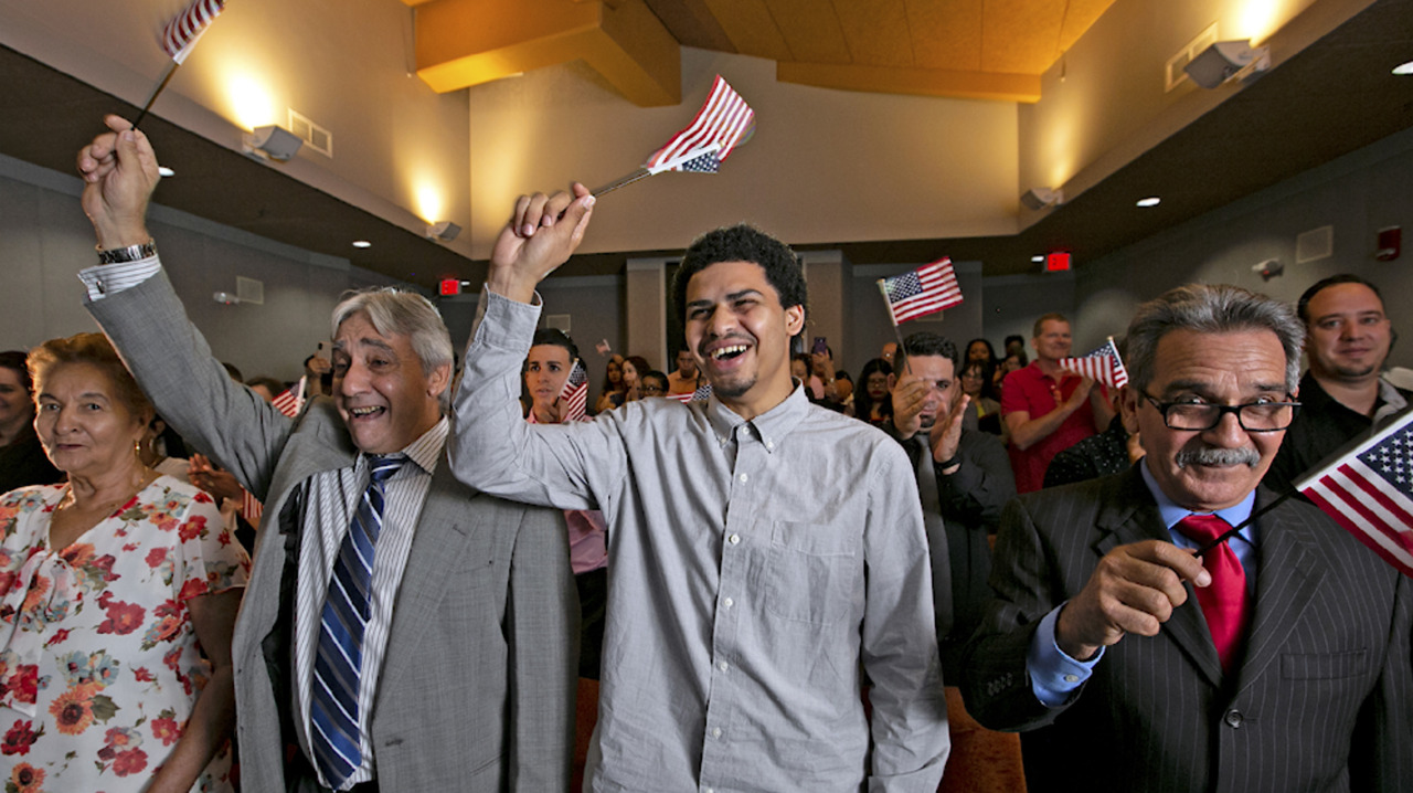 A short drive from Homestead detention center, 26 people from 12 countries became citizens