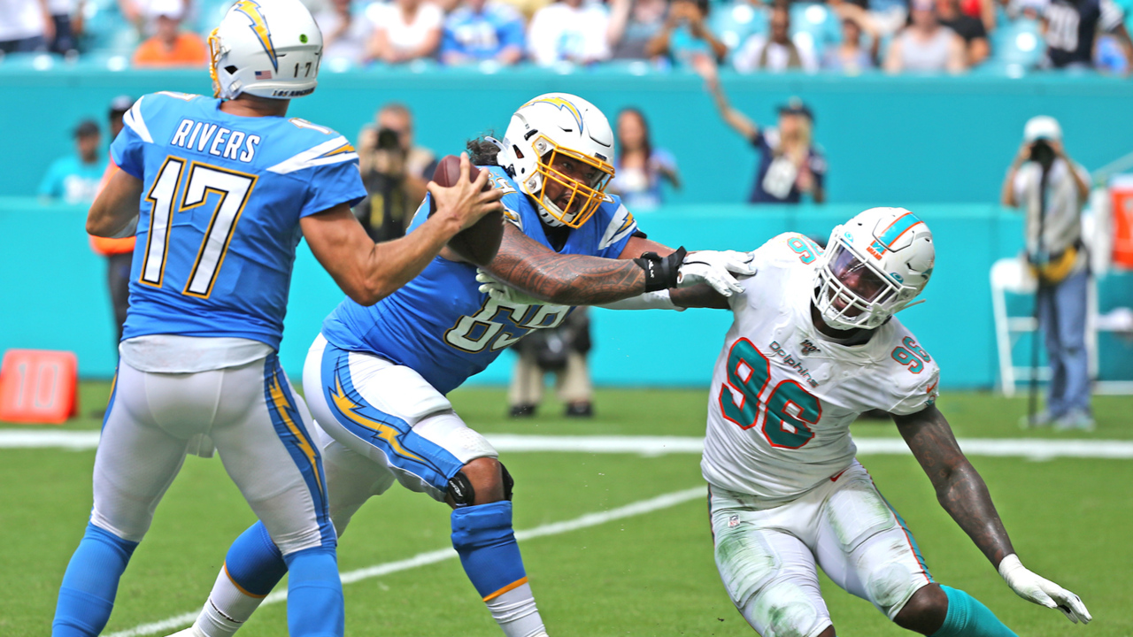 It took Charlton two games to lead Dolphins in sacks. Why he's not impressed with that