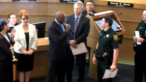 City leader calls out, 'you're a bad police officer,' during deputy's award ceremony