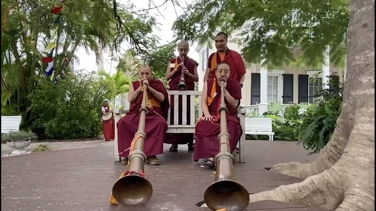 Tibetan monks are in Key West this week. You have many chances to see them