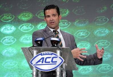 What Manny Diaz said when asked about the possibility of a Miami QB transferring soon